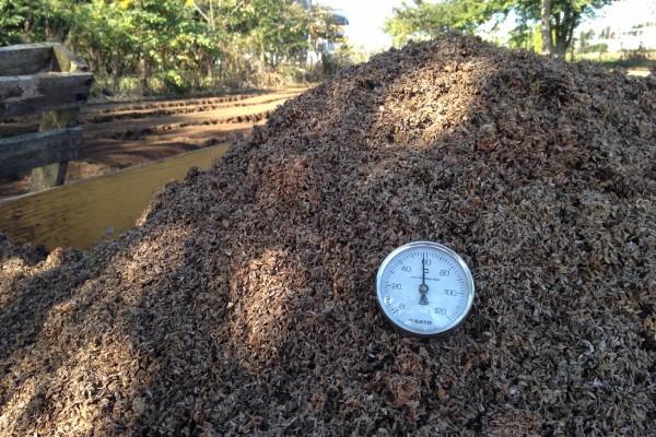 畑の土壌改良材として「籾殻発酵肥料」を作っています
